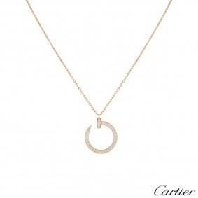 Cartier Rose Gold Diamond Juste Un Clou Necklace B3047000